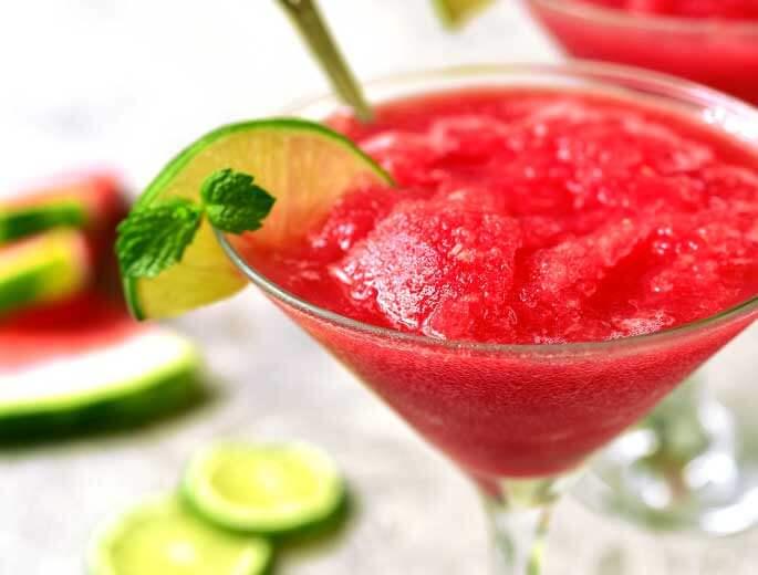 Selbstgemachtes Wassermelonensorbet