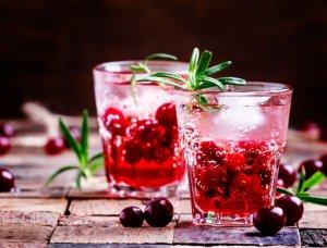 Gin mit Cranberrys