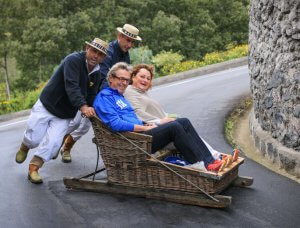 Madeira Funchal Korbschlitten