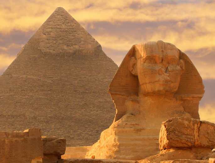 Die sieben Weltwunder Pyramiden von Gizeh Ägypten