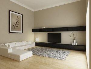 Beiges Wohnzimmer