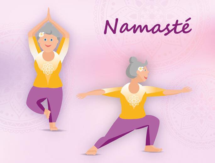 Yogaübungen im Stehen