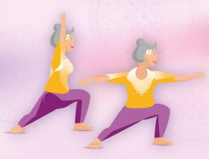 Yogaübungen im Stehen Der Krieger