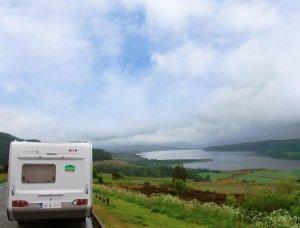 Campingreise in Schottland Wohnwagen