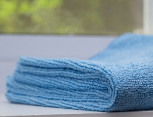 Blaues Mikrofasertuch