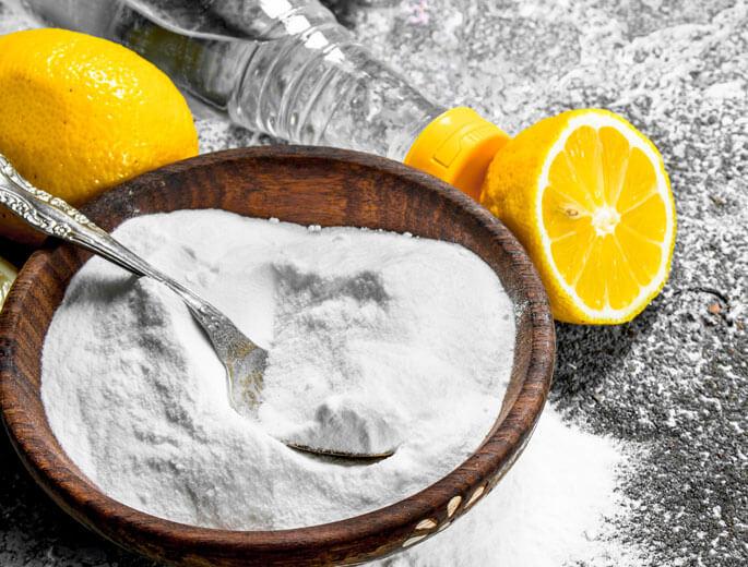 Zitrone, Essig und Soda