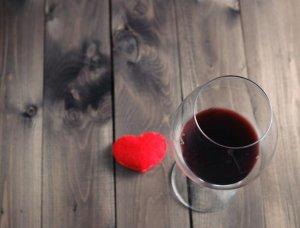 Rotwein Herz