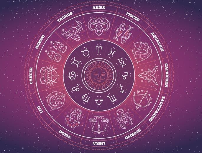 Sternzeichen 2019 lila