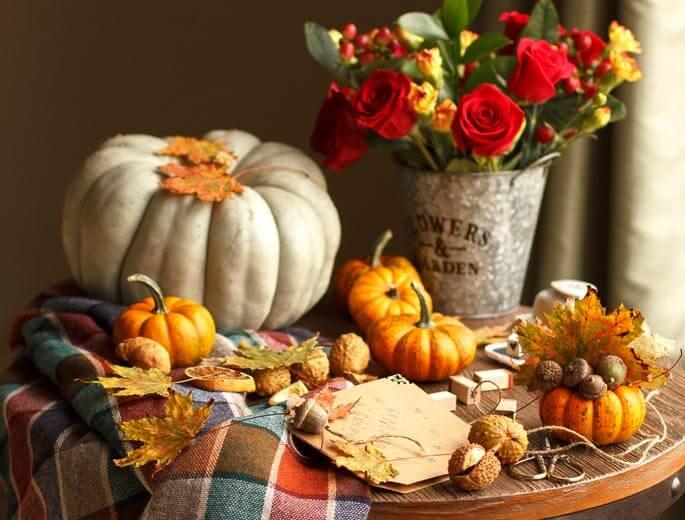 Herbst Dekoration - Warm und gemütlich